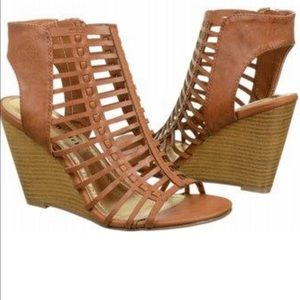 Madden Girl Coaster caged wedge sandals